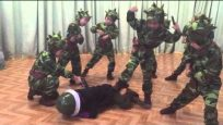 DPRK vs South Korea as performed by kids from kindergarten in Sinuiju.