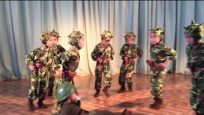 North Korea (DPRK), Sinuiju, Bonbu Kindergarten Children's Military Performance
