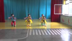 North Korea: Kindergarten Kids Playing Sohaegum in Chongjin